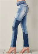 DISTRESSED PATCHWORK JEANS - фото 4800