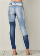 DISTRESSED PATCHWORK JEANS - фото 4801